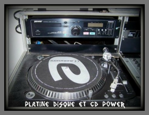 PLATINE DISQUE ET CD POWER
